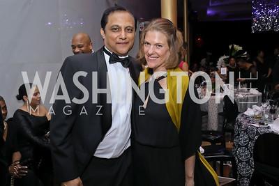 Vivek Jain, Emily Lenzner. Photo by Tony Powell. 2020 Alvin Ailey DC Gala. Kennedy Center. February 4, 2020