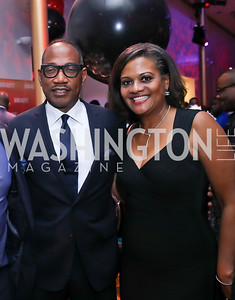Co-Chair Yelberton Watkins, Chinyere Hubbard. Photo by Tony Powell. 2020 Alvin Ailey DC Gala. Kennedy Center. February 4, 2020