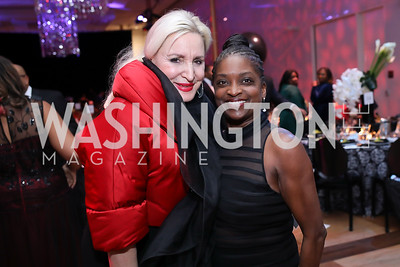 Christine Warnke, Mignon Clyburn. Photo by Tony Powell. 2020 Alvin Ailey DC Gala. Kennedy Center. February 4, 2020