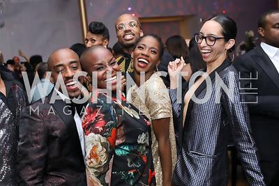 Renaldo Maurice, Hope Boykin, Jermaine Terry, Jessica Pinkett, Sarah Daley-Perdomo. Photo by Tony Powell. 2020 Alvin Ailey DC Gala. Kennedy Center. February 4, 2020