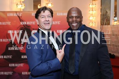 Co-Chair Lyndon Boozer, Former Redskin Ken Harvey. Photo by Tony Powell. 2020 Alvin Ailey DC Gala. Kennedy Center. February 4, 2020