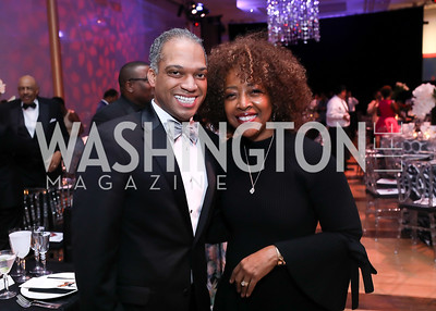 Councilman Brandon Todd, Gina Adams. Photo by Tony Powell. 2020 Alvin Ailey DC Gala. Kennedy Center. February 4, 2020