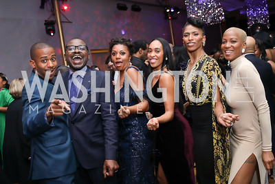 Christopher Wilson, Robert Battle, Sela Collins, Constance Stamatiou, Jacqueline Green, Akua Noni Parker. Photo by Tony Powell. 2020 Alvin Ailey DC Gala. Kennedy Center. February 4, 2020
