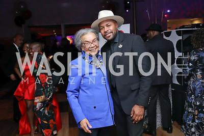 Marian Wright Edelman, DJ D-Nice. Photo by Tony Powell. 2020 Alvin Ailey DC Gala. Kennedy Center. February 4, 2020