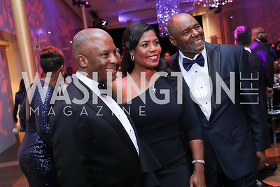 Southern Company's Christopher Womack, Omarosa Manigault Newman and John Newman. Photo by Tony Powell. 2020 Alvin Ailey DC Gala. Kennedy Center. February 4, 2020