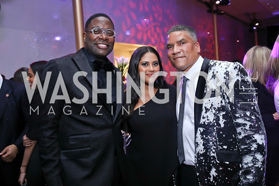 Andre Wells, Rachel and Paxton Baker. Photo by Tony Powell. 2020 Alvin Ailey DC Gala. Kennedy Center. February 4, 2020