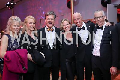 Linda Potter, Alexe Nowakowski, Tim Shriver, Ruth and Arne Sorenson, Peter Shields. Photo by Tony Powell. 2020 Alvin Ailey DC Gala. Kennedy Center. February 4, 2020