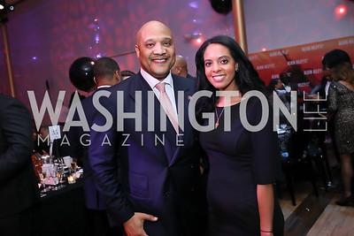 Rep. André Carson, Aden Asefa. Photo by Tony Powell. 2020 Alvin Ailey DC Gala. Kennedy Center. February 4, 2020