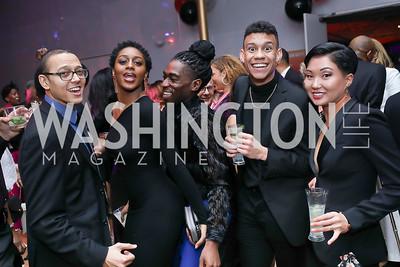 Clifton Brown, Corrin Rachelle Mitchell, Chalvar Monteiro, Brandon Woolridge, Miranda Quinn. Photo by Tony Powell. 2020 Alvin Ailey DC Gala. Kennedy Center. February 4, 2020