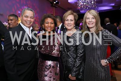 Dallas and DeDe Lea, Deborah Rutter, Carol Melton. Photo by Tony Powell. 2020 Alvin Ailey DC Gala. Kennedy Center. February 4, 2020