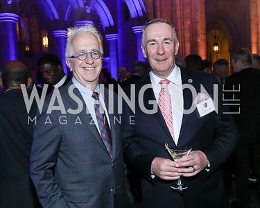 Alex Orfinger, Andrew Clarke. Photo by Tony Powell. 2020 Bishop Walker Annual Dinner. National Cathedral. March 5, 2020