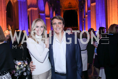 Britlan and Fred Malek. Photo by Tony Powell. 2020 Bishop Walker Annual Dinner. National Cathedral. March 5, 2020