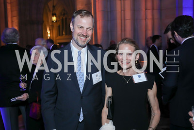 Peter Lee, Jane Dana. Photo by Tony Powell. 2020 Bishop Walker Annual Dinner. National Cathedral. March 5, 2020