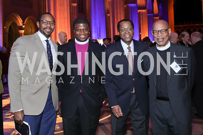 Rahsaan Bernard, Bishop Eugene Sutton, Bill Batts, Rev. Canon Preston Hannibal. Photo by Tony Powell. 2020 Bishop Walker Annual Dinner. National Cathedral. March 5, 2020