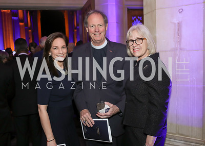 Heather Florance, Reverend Stuart Kenworthy and Frances Kenworthy. Photo by Tony Powell. 2020 Bishop Walker Annual Dinner. National Cathedral. March 5, 2020