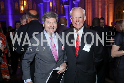Bobby Burchfield, Tony Parker. Photo by Tony Powell. 2020 Bishop Walker Annual Dinner. National Cathedral. March 5, 2020
