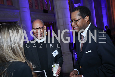 Rev. Canon Preston Hannibal, Bill Batts. Photo by Tony Powell. 2020 Bishop Walker Annual Dinner. National Cathedral. March 5, 2020