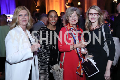 Mary Ann Kaplan, Hilary West, Anne Stewart, Krista Becker. Photo by Tony Powell. 2020 Bishop Walker Annual Dinner. National Cathedral. March 5, 2020