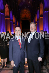 Bob Pinkard, John Thorne. Photo by Tony Powell. 2020 Bishop Walker Annual Dinner. National Cathedral. March 5, 2020