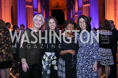 Benefit Co-Chairs Lizzie Cantacuzene, Laura McIntosh, Maria Walker, Martha Webb. Photo by Tony Powell. 2020 Bishop Walker Annual Dinner. National Cathedral. March 5, 2020