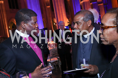 Bishop Eugene Sutton, Rev. Allan Johnson. Photo by Tony Powell. 2020 Bishop Walker Annual Dinner. National Cathedral. March 5, 2020