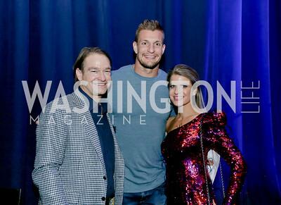 Brad Nierenberg, Rob Gronkowski, Callie Nierenberg. Photo by Tony Powell. 2020 Chance for Life. MGM National Harbor. February 22, 2020