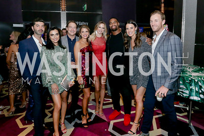 Ab and Samin Emam, Brad and Callie Nierenberg, Kathleen McCenna, Johnathon Allen, Vanessa Patten, Andrew McCenna. Photo by Tony Powell. 2020 Chance for Life. MGM National Harbor. February 22, 2020