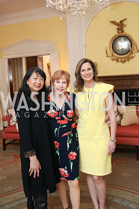 Sujuan Ba, Alice-Anne Birch, Alison Starling. Photo by Tony Powell. 2020 Daffodils and Diamonds Fashion Show. Columbia Country Club. March 12, 2020