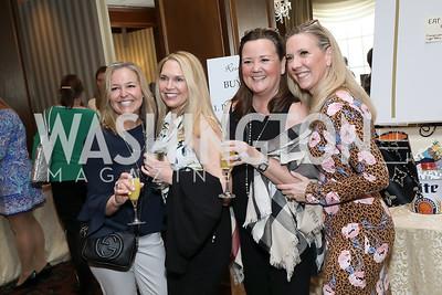 Karen Weintraub, Melissa White, Liz Gardner, Carol Walser. Photo by Tony Powell. 2020 Daffodils and Diamonds Fashion Show. Columbia Country Club. March 12, 2020