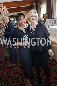 Dushanti Peiris, Betsy Lamond. Photo by Tony Powell. 2020 Daffodils and Diamonds Fashion Show. Columbia Country Club. March 12, 2020