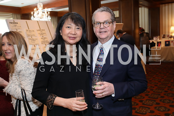 Sujuan Ba and Franklin Salisbury. Photo by Tony Powell. 2020 Daffodils and Diamonds Fashion Show. Columbia Country Club. March 12, 2020