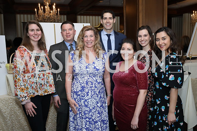 Kim Williams, Brad Gillenwater, Karen Skelly, Brian Wachtel, Tanyelle Gill, Francesca Montalto, Ava Edalatkhah. Photo by Tony Powell. 2020 Daffodils and Diamonds Fashion Show. Columbia Country Club. March 12, 2020