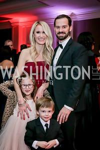 Stephanie, Colin, Abigail and Colby Harris. Photo by Tony Powell. 2020 Heart Ball. Mandarin Oriental. February 22, 2020