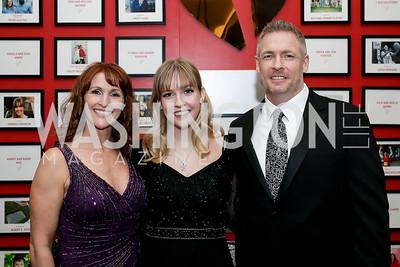 Patti, Hannah and Rob Franklin. Photo by Tony Powell. 2020 Heart Ball. Mandarin Oriental. February 22, 2020