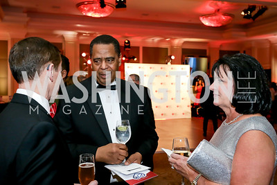 Ted Branch, Stanley Campbell, Jodi Branch. Photo by Tony Powell. 2020 Heart Ball. Mandarin Oriental. February 22, 2020