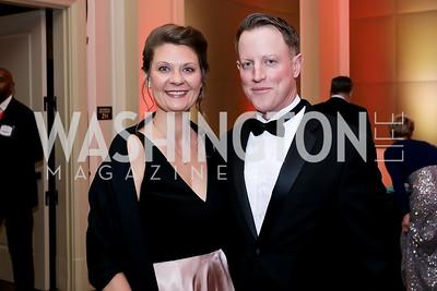 Amber and Brendan Miller. Photo by Tony Powell. 2020 Heart Ball. Mandarin Oriental. February 22, 2020