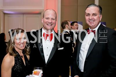 Rocky and Kathryn Thurston, Michael Kirkland. Photo by Tony Powell. 2020 Heart Ball. Mandarin Oriental. February 22, 2020