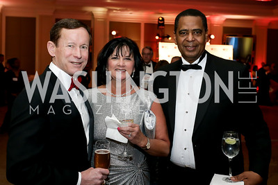 Ted and Jodi Branch, Stanley Campbell. Photo by Tony Powell. 2020 Heart Ball. Mandarin Oriental. February 22, 2020