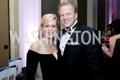 Alejandra Moya, Jim Garrettson. Photo by Tony Powell. 2020 Heart Ball. Mandarin Oriental. February 22, 2020