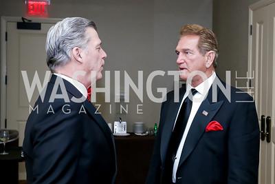 Mac Curtis, Joe Theismann. Photo by Tony Powell. 2020 Heart Ball. Mandarin Oriental. February 22, 2020