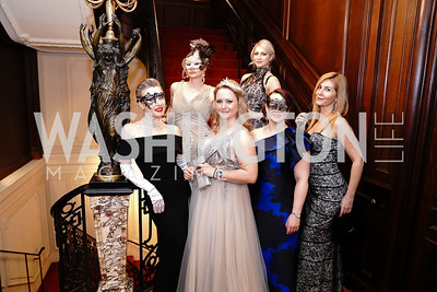 Ekaterina Flis, Audrey Wilde, Mariya Kruseck, Elena Istomina, Meredith Schramm-Strosser, Asha Ozbey. Photo by Tony Powell. 2020 Russian Ball. January 18, 2020