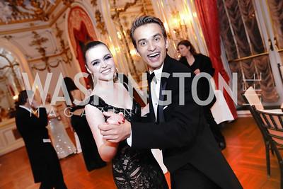 Helena Yablonski, Andrew Lubimtsev. Photo by Tony Powell. 2020 Russian Ball. January 18, 2020
