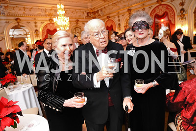 Olga Ryan, Count Vladimir Tolstoy and Countess Suzanne Tolstoy. Photo by Tony Powell. 2020 Russian Ball. January 18, 2020