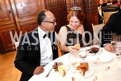Prince Ermias Sahle Selassie, Irina du Quenoy. Photo by Tony Powell. 2020 Russian Ball. January 18, 2020
