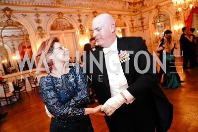 Lubka Stoytchev, Assistant Secretary of State R. Clarke Cooper. Photo by Tony Powell. 2020 Russian Ball. January 18, 2020