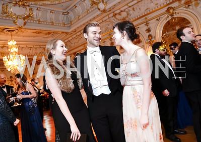 Diana Pearl, Tobias Cremer, Jessica Day. Photo by Tony Powell. 2020 Russian Ball. January 18, 2020