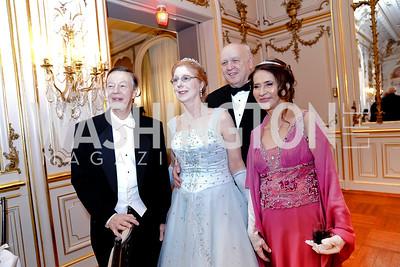 Bill Celia, Eliane and Richard Eckman, Aleyda Kasten. Photo by Tony Powell. 2020 Russian Ball. January 18, 2020