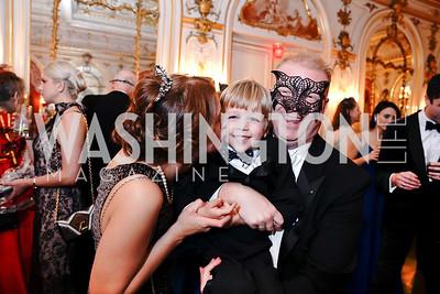 Irina, Charlie and Paul du Quenoy. Photo by Tony Powell. 2020 Russian Ball. January 18, 2020