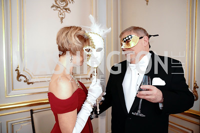 Kelley and Michael Vlahos. Photo by Tony Powell. 2020 Russian Ball. January 18, 2020