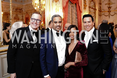 Barry Dixon, Prince Joel Makonnen and Princess Ariana Makonnen, Will Thomas. Photo by Tony Powell. 2020 Russian Ball. January 18, 2020